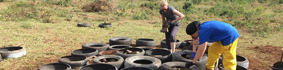 IUPUI students build playground structure for preschoolers in Swaziland