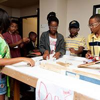 Students participate in the Annual MEAP Rube Goldberg competition, Summer 2013