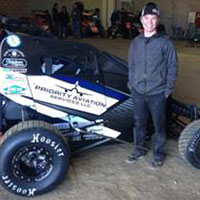 Payton Pierce and his midget racecar