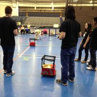 IUPUI Students compete in Accuracy Test at Robot Football Combine in South Bend, IN