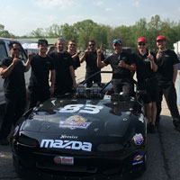 The IUPUI Motorsports team won two Sports Car Club of America races in April at Virginia Motorsports Park. Photo courtesy of IUPUI Motorsports