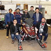 The School of Engineering and Technology, IUPUI's Electric Snowmobile team